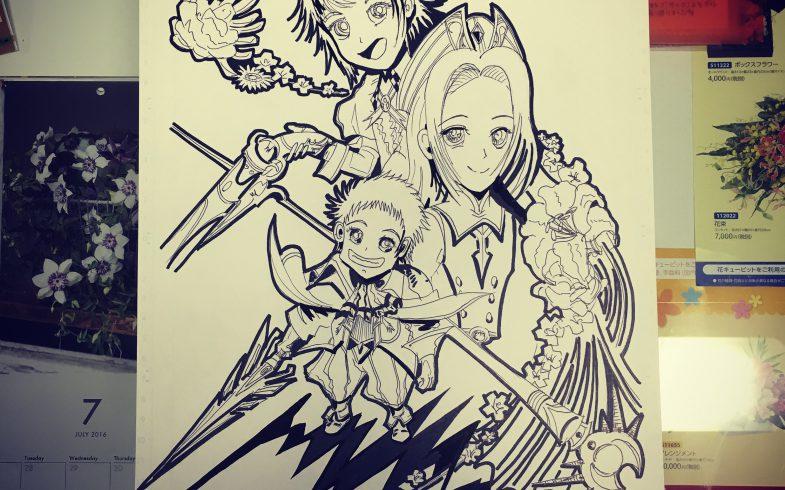 3兄弟のイラスト