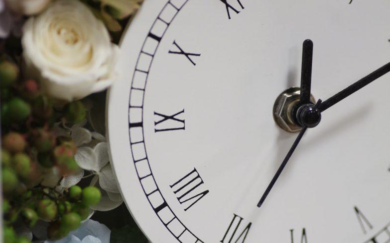 プリザーブの花時計